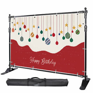 Step And Repeat 8x8 Banner Stand Adjustable Telescopic Trade Show Backdrop