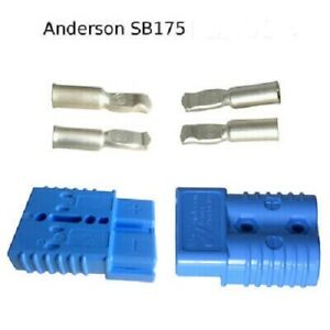 Anderson Sb175 Connector Kit Blue 4 Awg 2 Pack 6326g6 Domestic Shipping Included