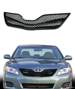 For 2010 2011 Toyota Camry Black Wire Mesh Front Hood Bumper Grill Grille Guard