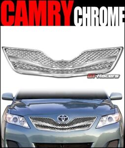 For 2010 2011 Toyota Camry Chrome Wire Mesh Front Hood Bumper Grill Grille Guard