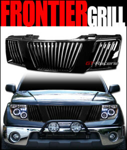 For 2005 2008 Frontier pathfinder Black Vertical Front Bumper Grill Grille Abs