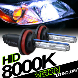 8000k Hid Xenon H11 Driving Bumper Fog Lights Lamp Bulbs Conversion Kit New Vc3