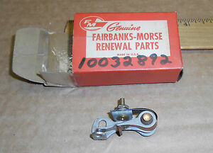 New Vintage Fairbanks morse Magneto Distributor Contact Points 10032892