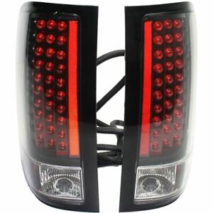 Anzo Led Taillights Red Clear Lens Black Housing 2007 2012 Chevy Silverado 1500