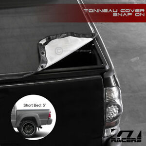 For 2005 2015 Toyota Tacoma 5 Ft 60 Short Bed Snap On Soft Vinyl Tonneau Cover