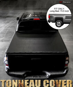 For 2005 2015 Toyota Tacoma 6 Ft 72 Long Bed Snap on Soft Vinyl Tonneau Cover