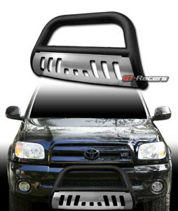 For 1999 2006 Tundra 2001 Sequoia Matte Black Bull Bar Bumper Grille Guard skid
