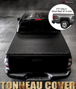 For 2009 2018 Dodge Ram 5 7 Feet 68 4 Short Bed Snap on Vinyl Tonneau Cover