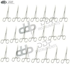 24 Kelly Hemostat Forceps Locking Clamps 6 25 Curved Stainless Steel