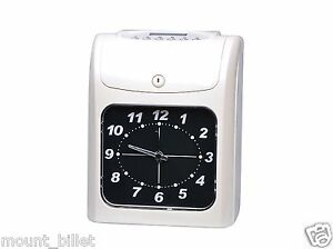 Electronic Employee Analogue Time Recorder Time Clock W card Monthly semimonthly