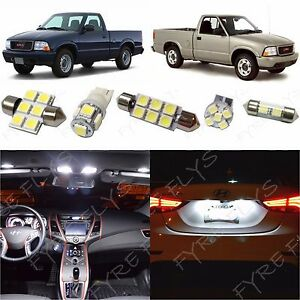 9x White Led Lights Interior Package Kit For 1998 2003 Gmc Sonoma Co1w