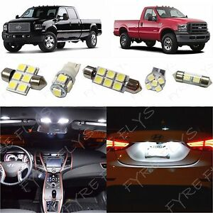 14 White Led Lights Interior Package Kit 1999 2016 Ford F250 F350 Super Duty Fs1