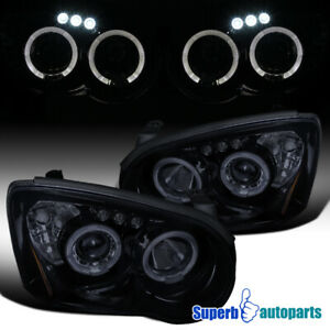 For 2004 2005 Subaru Impreza Halo Led Projector Headlights Glossy Piano Black