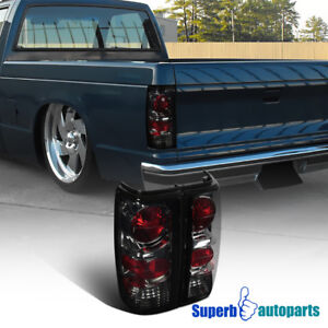 1982 1993 Chevy S10 1983 1990 Gmc S15 Sonoma Replacement Tail Lights Smoke Tint