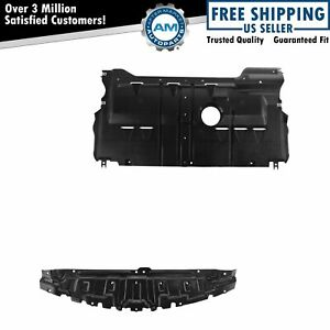 Engine Splash Guard Shield Under Cover Front Rear Lower Pair For Mazda 3