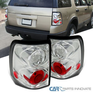 Fo Ford 02 05 Explorer Clear Lens 4dr Parking Tail Lights Rear Brake Lamps Pair