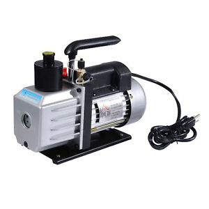 Homcom Single Stage Vacuum Pump 7cfm 1 2hp Rotary Vane Deep Hvac Ac Air Tool New