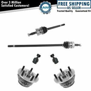 Front Hub Bearing Axle Lower Ball Joint Kit Set Of 6 For Jeep Grand Cherokee