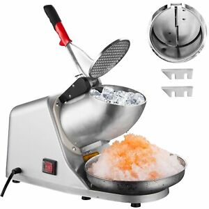 Electric Ice Shaver Crusher Machine Snow Cone Maker Shaving 143lbs Summer Home