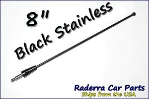 8 Black Stainless Am Fm Antenna Mast Fits 1975 2008 Ford F 150