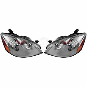 Hid Xenon Headlights Headlamps Pair Set Left Lh Right Rh For 02 04 Altima