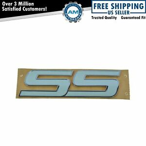 Oem Ss Nameplate Emblem Door Mount White For Trailblazer Impala Hhr Monte Carlo