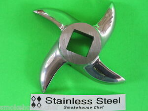 8 Meat Grinder Knife Blade For Lem Cabelas Mtn And All Others free Shipping