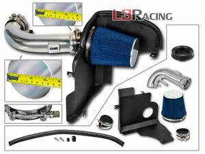 Blue 4 Air Intake Induction Kit Heat Shield For 11 14 Ford Mustang 5 0l V8
