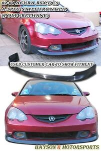 A spec Style Front Lip urethane Fits 02 04 Acura Rsx Dc5
