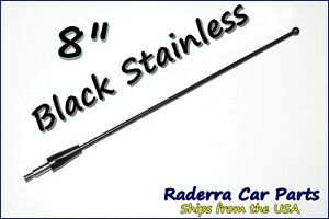 8 Black Stainless Am Fm Antenna Mast Fits 1979 2009 Ford Mustang