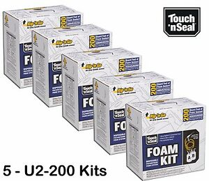Touch n Seal U2 200 Standard Fr Spray Foam Insulation Kit Qty Of 5 Kits save