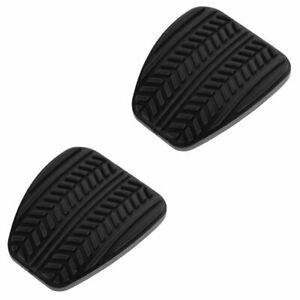 Oem F4zz2457a Clutch Brake Pedal Pad Black Rubber Pair For 94 04 Ford Mustang