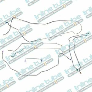 1971 72 Chevy Chevelle Malibu Hdt Brake Line Set Power Disc Lines Kit Tubes Oe