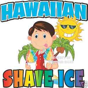 Hawaiian Shave Ice Decal 14 Concession Trailer Food Truck Vinyl Menu Sticker