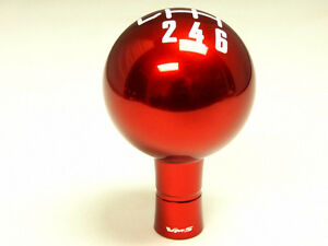 Ford Mustang 6 Speed Manual Threaded Round Ball Shift Knob Boot Retainer Red