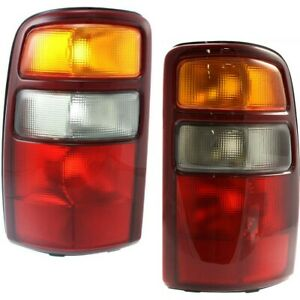 Rear Brake Taillights Taillamps Lights Left Right Pair Set For Suburban Tahoe