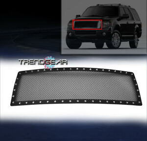 2007 2014 Ford Expedition Main Upper Rivet Stainless Steel Mesh Grille Grill New