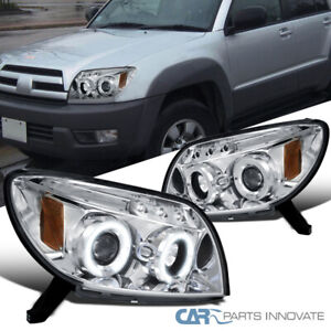 Fit Toyota 03 05 4runner Led Halo Projector Headlights Head Lights Lamps Pair