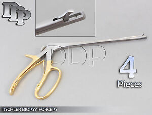 4 Pieces Baby Tischler Biopsy Forceps 8 Bite 5x8mm Gynecology Surgical Instr