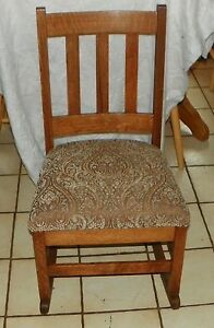 Quartersawn Oak Mission Sewing Rocker Rocking Chair R49
