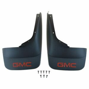 Oem Molded Black Splash Guard Mud Flap Rear Pair Set Of 2 For Gmc Pickup Truck
