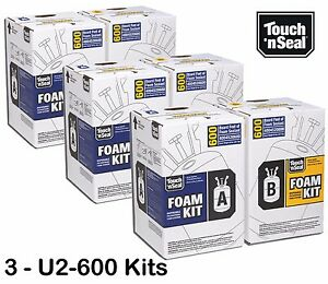Touch n Seal 600 Fr Standard Spray Foam Insulation Kit 4004520600 qty Of 3 Kits