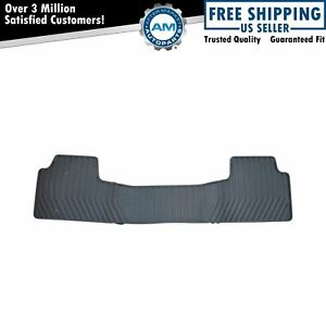 Oem Floor Mat Black All Weather Molded Rubber 2nd Second Row For Chevy Gmc New