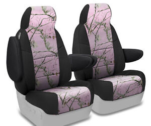 New Realtree Ap Pink Camo Camouflage Seat Covers With Black Sides 5102011 10