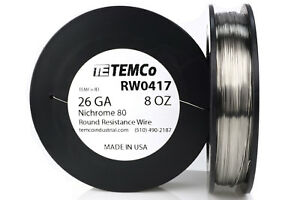 Temco Nichrome 80 Series Wire 26 Gauge 8 Oz 691 5ft Resistance Awg Ga