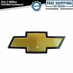 Oem 22829421 Grille Mounted Gold Black Bowtie Emblem For Chevy