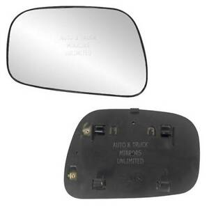 New Mirror Glass With Backing Heated 02 06 Toyota Camry Usa Driver Left Side