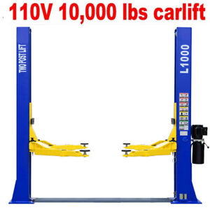 A A 10 000 Lb L1000 2 Post Lift Car Auto Truck Hoist Free Shipping 110v