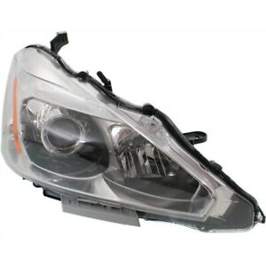 Headlight For 2013 2015 Nissan Altima Right Halogen With Bulb