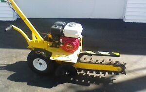Gas Trencher Digger Ground Hog 18 Honda Excavator Electric Line Fence Used